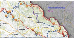 Alternativroute Goldsteig 2015