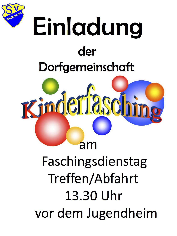 Plakat Kinderfasching_II Kopie